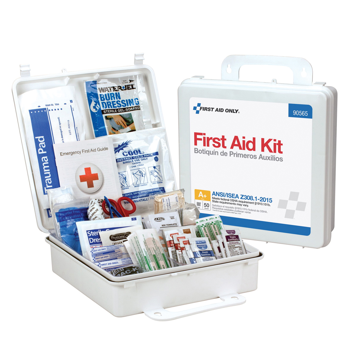 Mallory FAK24MBA 50 Person Bulk Packed Metal First Aid Kit, ANSI Compliant A+