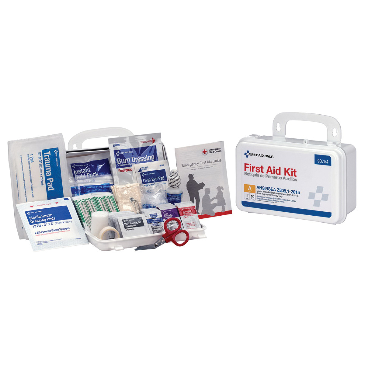 Mallory 4-Shelf First Aid Cabinet With Medications, ANSI B+ Compliant
