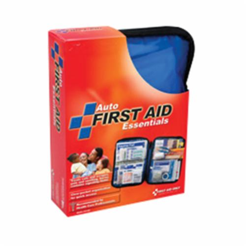 Pac-Kit® 6410 First Aid Kit, Wall Mount, 76 Components, Weatherproof Plastic Case, 4-1/2 in H x 7-1/2 in W x 2-3/4 in D