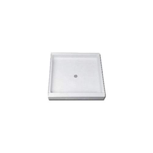 Florestone™ Saflor® 3232-1 Single Threshold Recess Shower Receptor, White, 32 in W x 4-3/4 in D