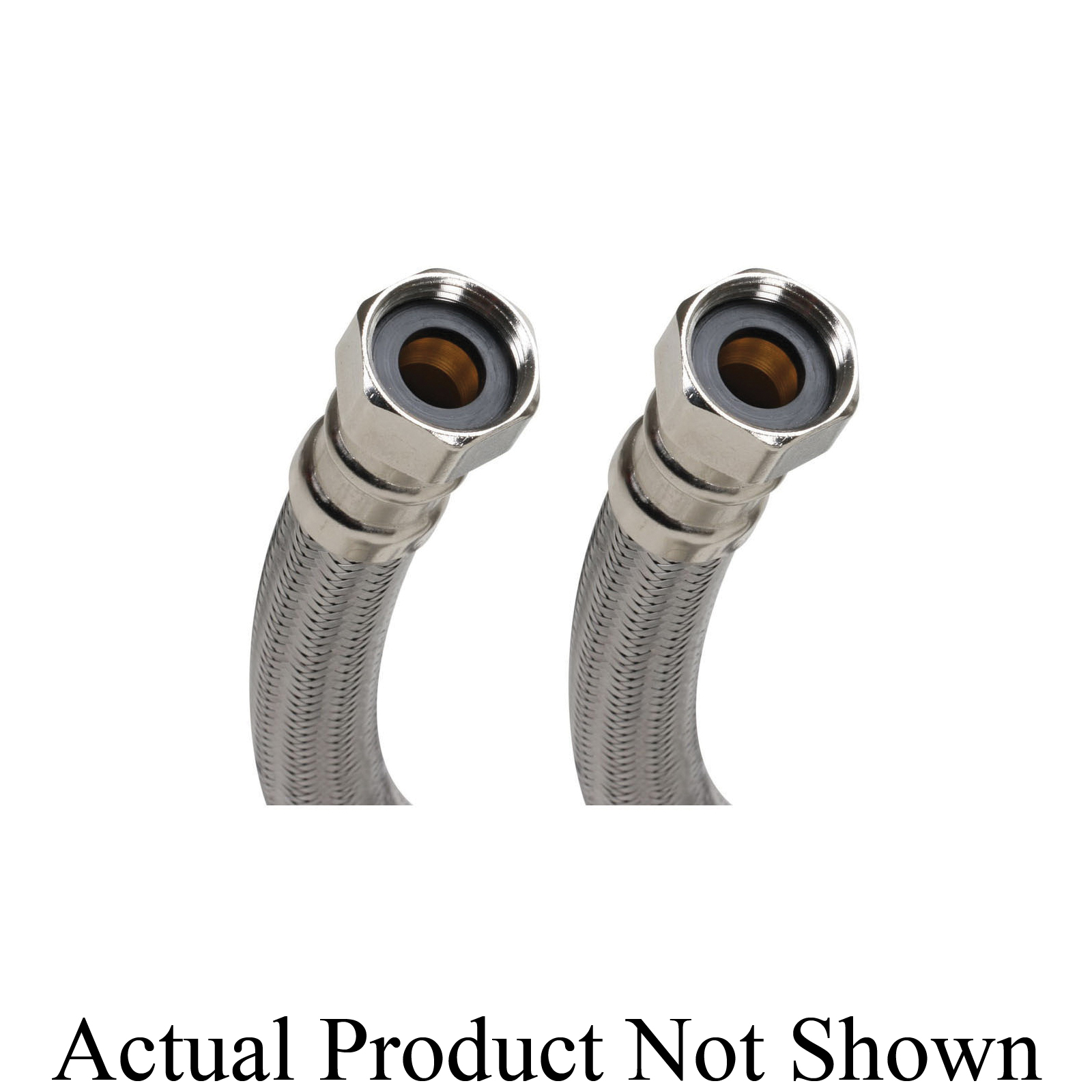 Fluidmaster® B1H24 Water Heater Connector, 3/4 in Nominal, FNPT End Style, 24 in L, 125 psi Working, 304 Stainless Steel, Import