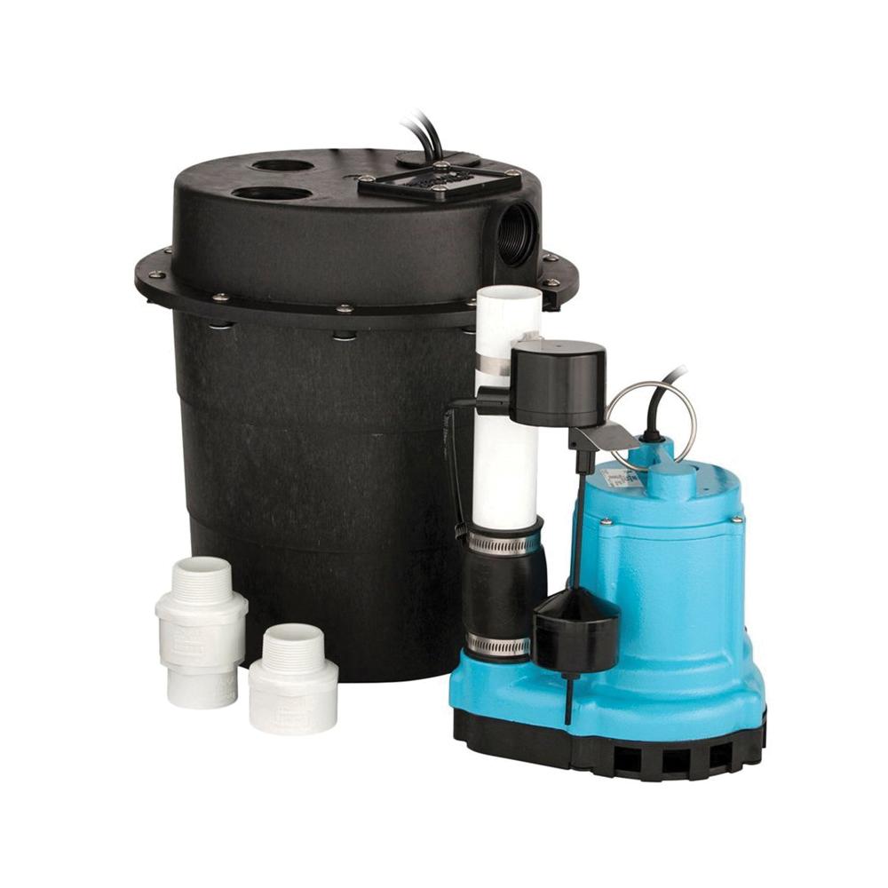 Little Giant® 505055 WRS Sump Pump, 1/6 hp, 115 VAC, 5 A