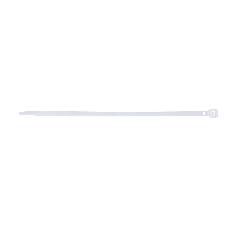 GB® 46-308 Bent Tip Cable Tie, 8 in L x 0.17 in W x 0.055 in THK, Nylon, Natural
