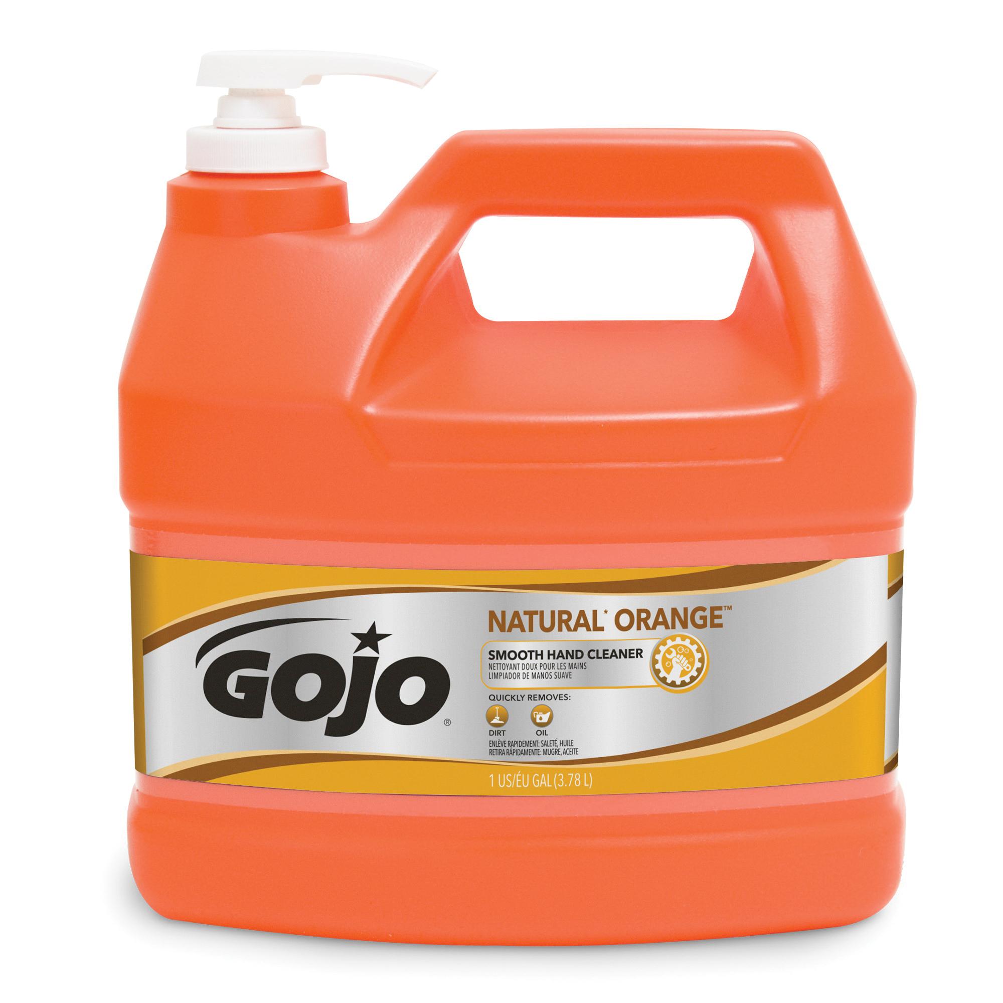 GOJO® 0915-06 Pumice Hand Cleaner, 4.5 lb, Plastic Cartridge, Liquid, Fresh Lemon, Opaque Green