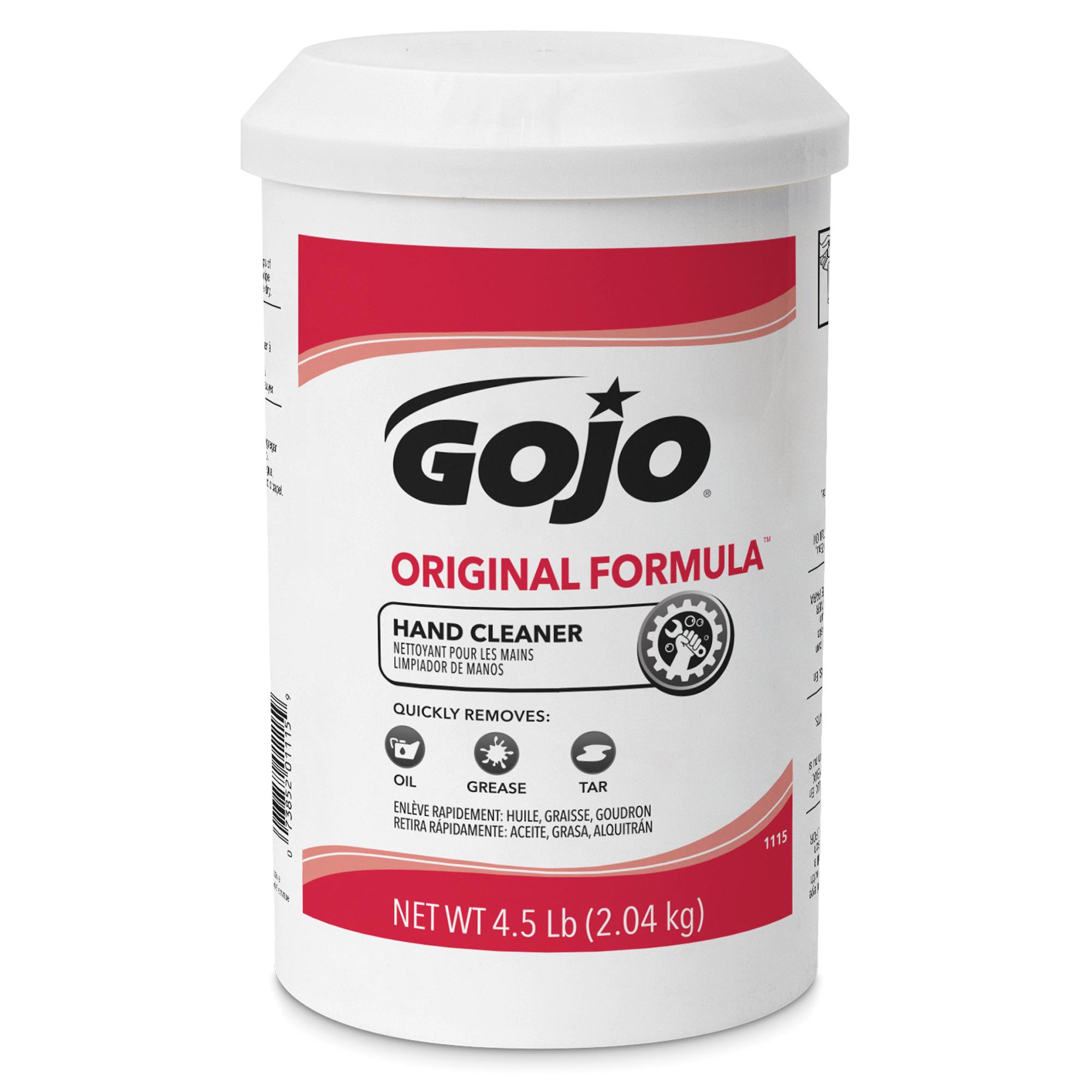 GOJO® 1109-12 ORIGINAL FORMULA™ Hand Cleaner, 14 oz Nominal, Plastic Cartridge Package, Creamy Form, Solvent Odor/Scent, Opaque White