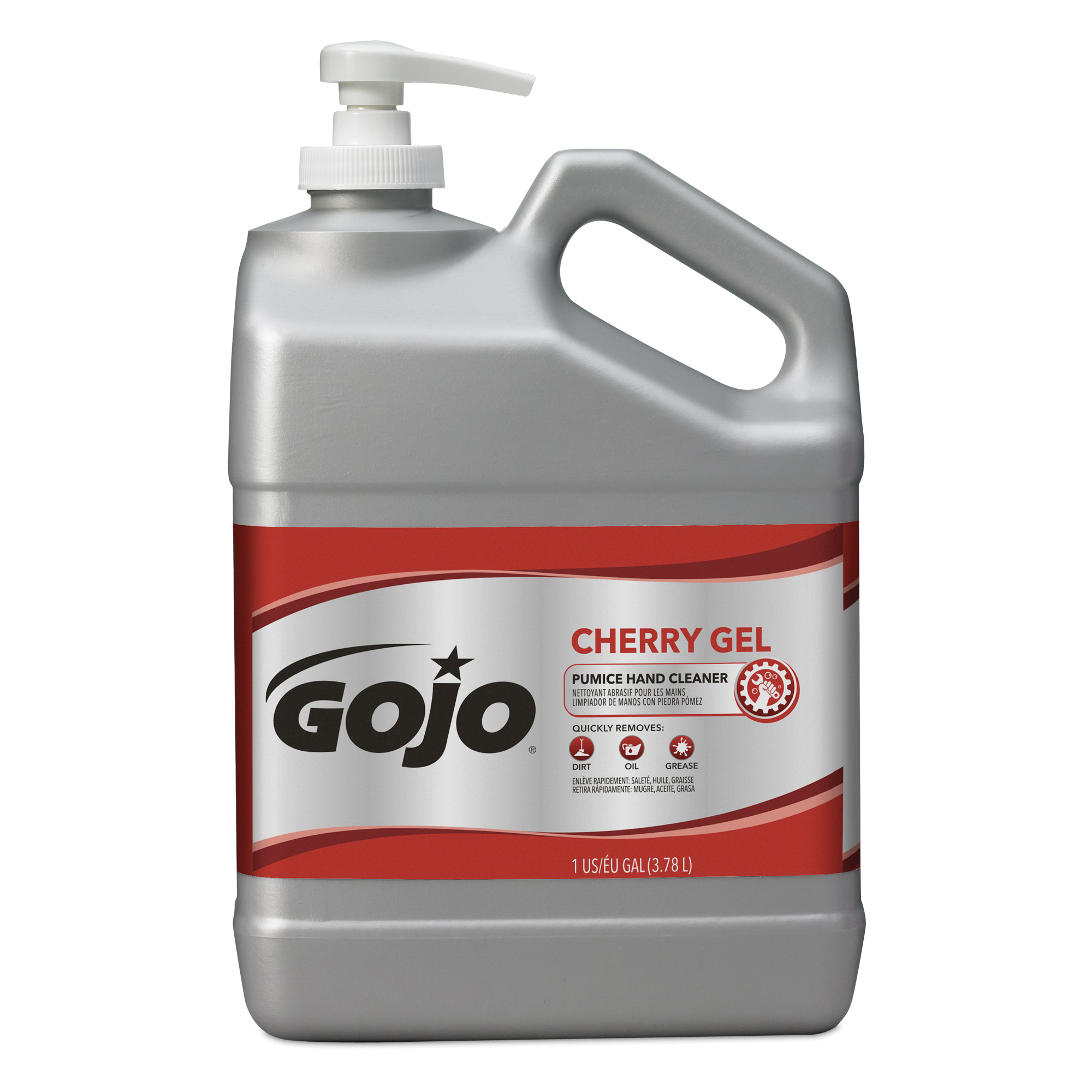 GOJO® 2354-08 Pumice Hand Cleaner, 10 fl-oz Nominal, Bottle Package, Gel Form, Cherry Odor/Scent, Red/Translucent