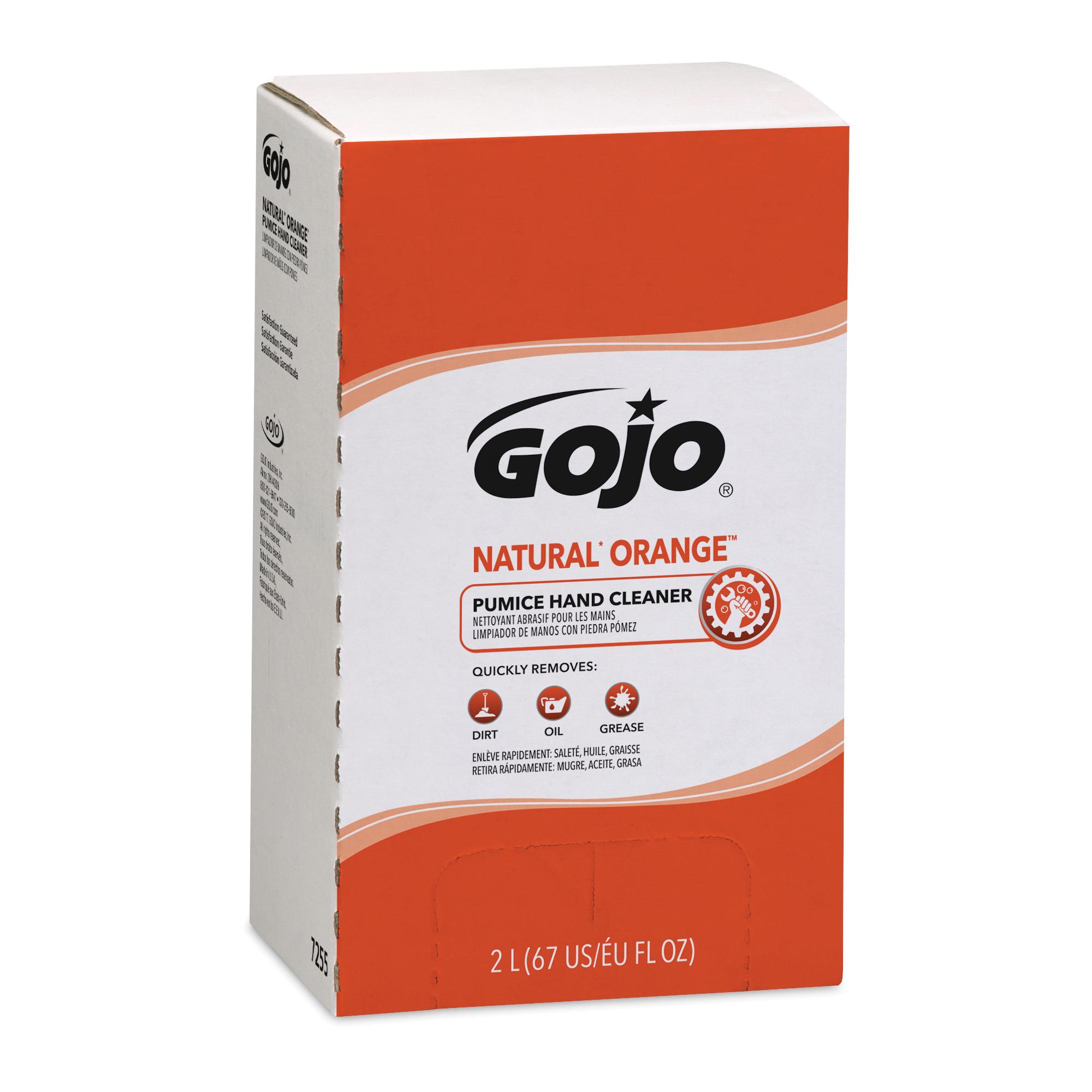 GOJO® 7250-04 NATURAL ORANGE™ PRO™ TDX™ Smooth Hand Cleaner, 2000 mL Nominal, Dispenser Refill Package, Lotion Form, Citrus Odor/Scent, Orange