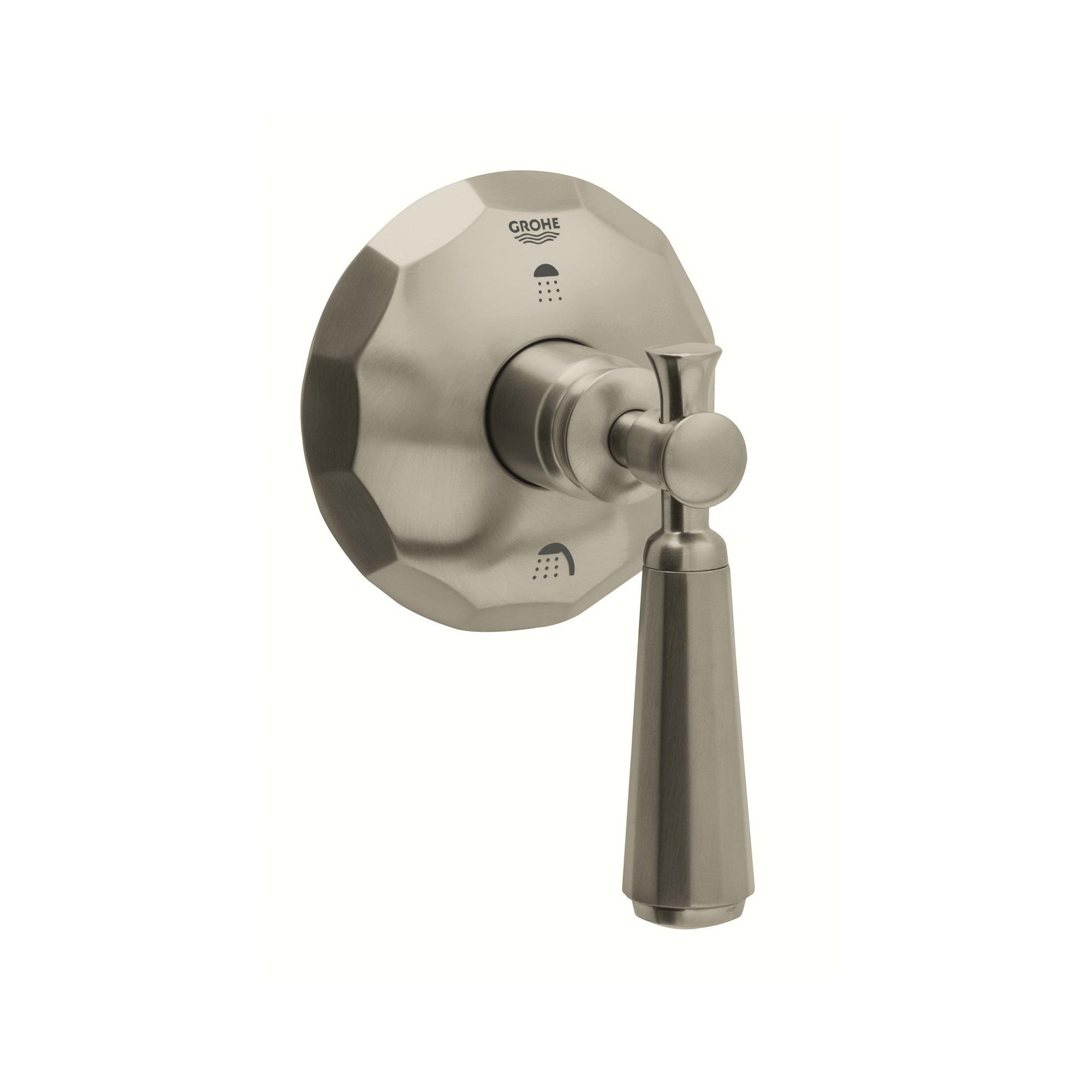GROHE 19272EN0 3-Way Diverter, StarLight® Brushed Nickel