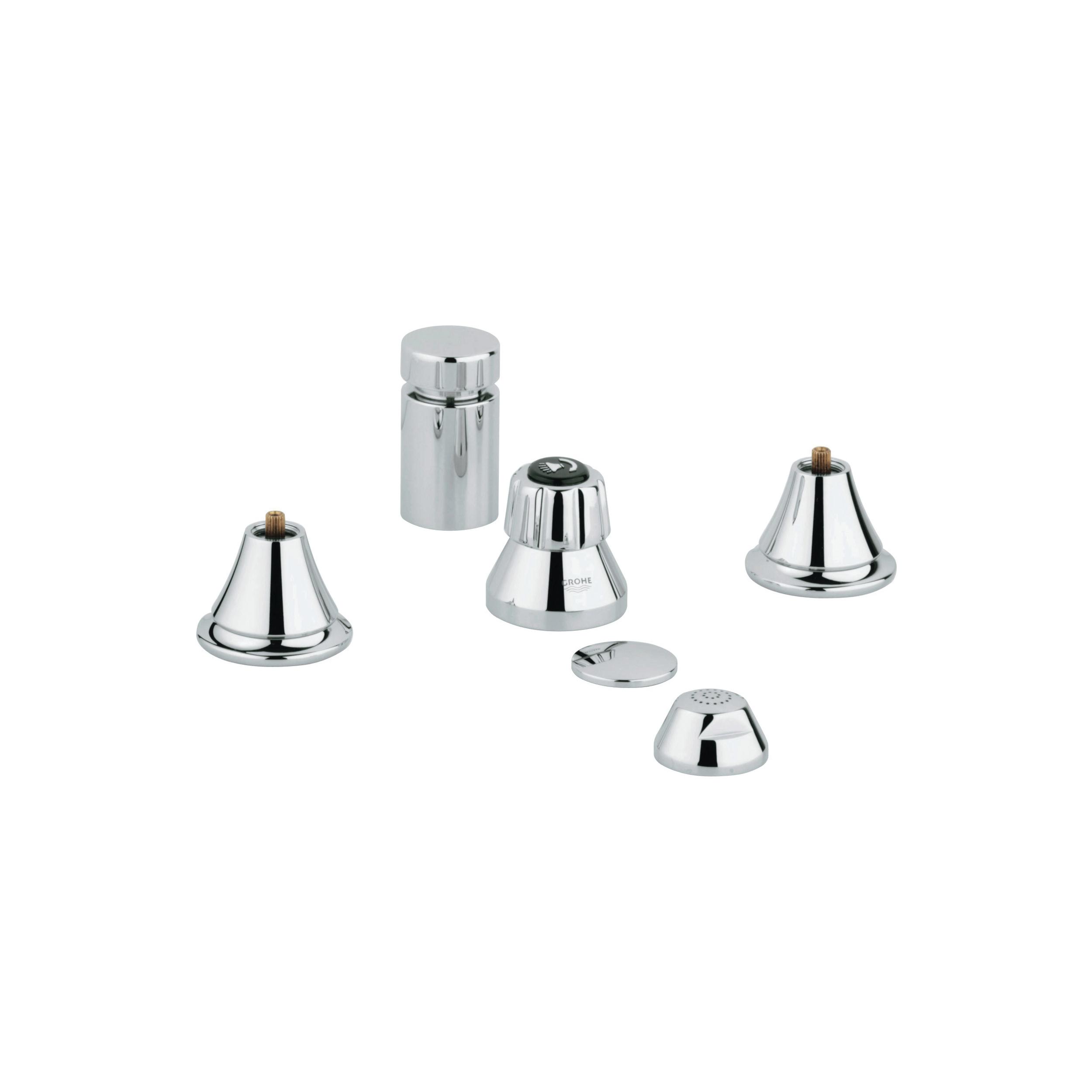 GROHE 24020000 Wideset Bidet Faucet, Seabury™, StarLight® Polished Chrome, Import