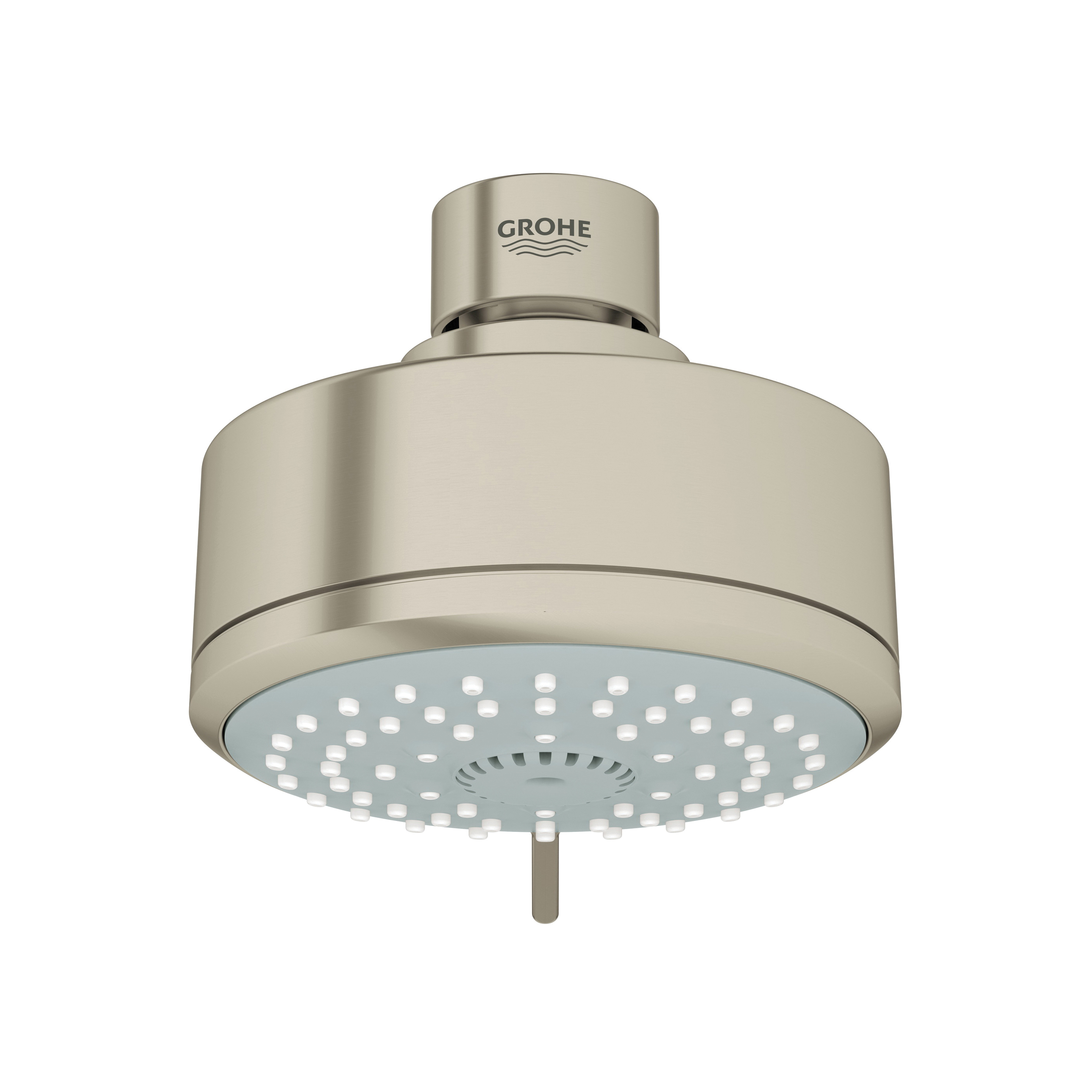 GROHE 27591EN0 Shower Head, New Tempesta® Cosmopolitan 100, 2.5 gpm Minimum, 4 Sprays, Wall Mount, 3-15/16 in Dia Head, Import