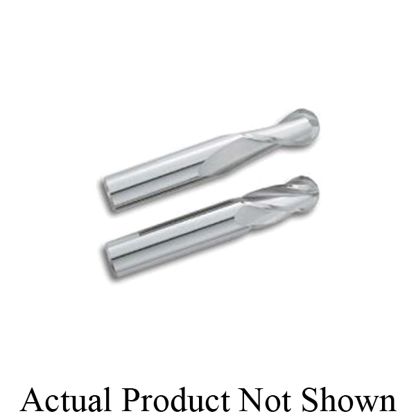 M.A. Ford® TuffCut® GP 16512500A Ball Nose Center Cutting Stub Length End Mill, 1/8 in, 1/4 in Length of Cut, 4 Flutes, 1/8 in Shank, 1-1/2 in OAL