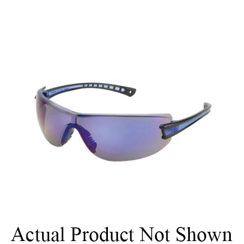 Gateway Safety® 19GB0M Luminary Wraparound Eyewear, Universal, Polycarbonate Clear Indoor/Outdoor Lens, Polycarbonate Black Frame, 99.9 % UV Protection