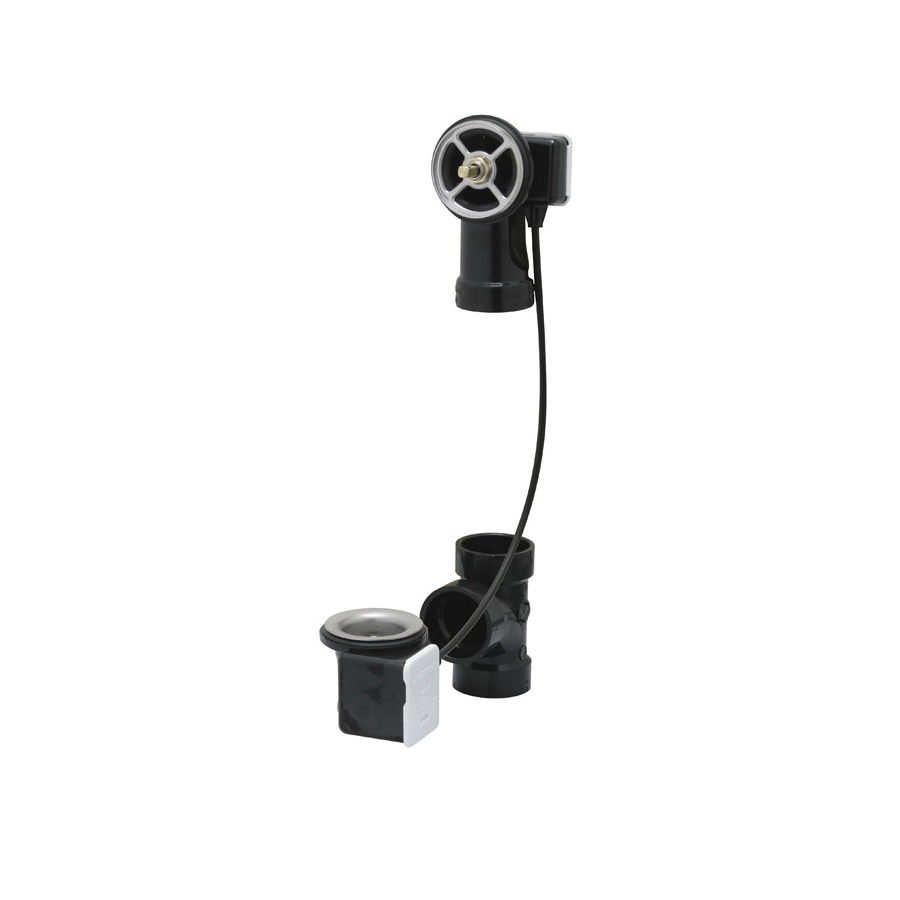 Geberit 151.505.00.1 Turn Control Cable-Operated Bath Waste and Overflow Bathtub, 6-7/8 in W x 15-3/4 in D x 3-5/8 in H, Domestic