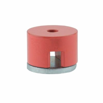 GENERAL® 372A Button Magnet, 1/2 in Dia, 1/16 in W, 1/2 in THK