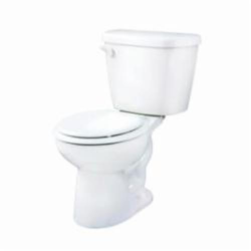 Gerber® 21-902 Maxwell® 2-Piece Toilet, Round Bowl, 14-7/8 in H Rim, 12 in Rough-In, 1.28 gpf Flush Rate, White