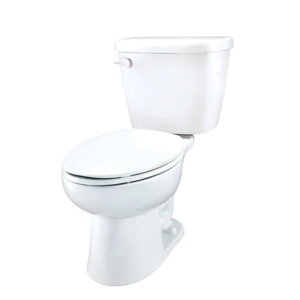 Gerber® 21-912 Maxwell® 2-Piece Toilet, Elongated Bowl, 14-3/8 in H Rim, 12 in Rough-In, 1.28 gpf Flush Rate, White