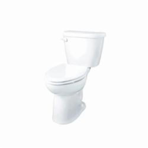 Gerber® ErgoHeight™ 21-918 Maxwell® 2-Piece Toilet, Elongated Bowl, 16-3/8 in H Rim, 12 in Rough-In, 1.28 gpf Flush Rate, White