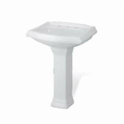 Gerber® Allerton™29-843 Pedestal, 9-5/8 in W x 28 in H, Vitreous China, White