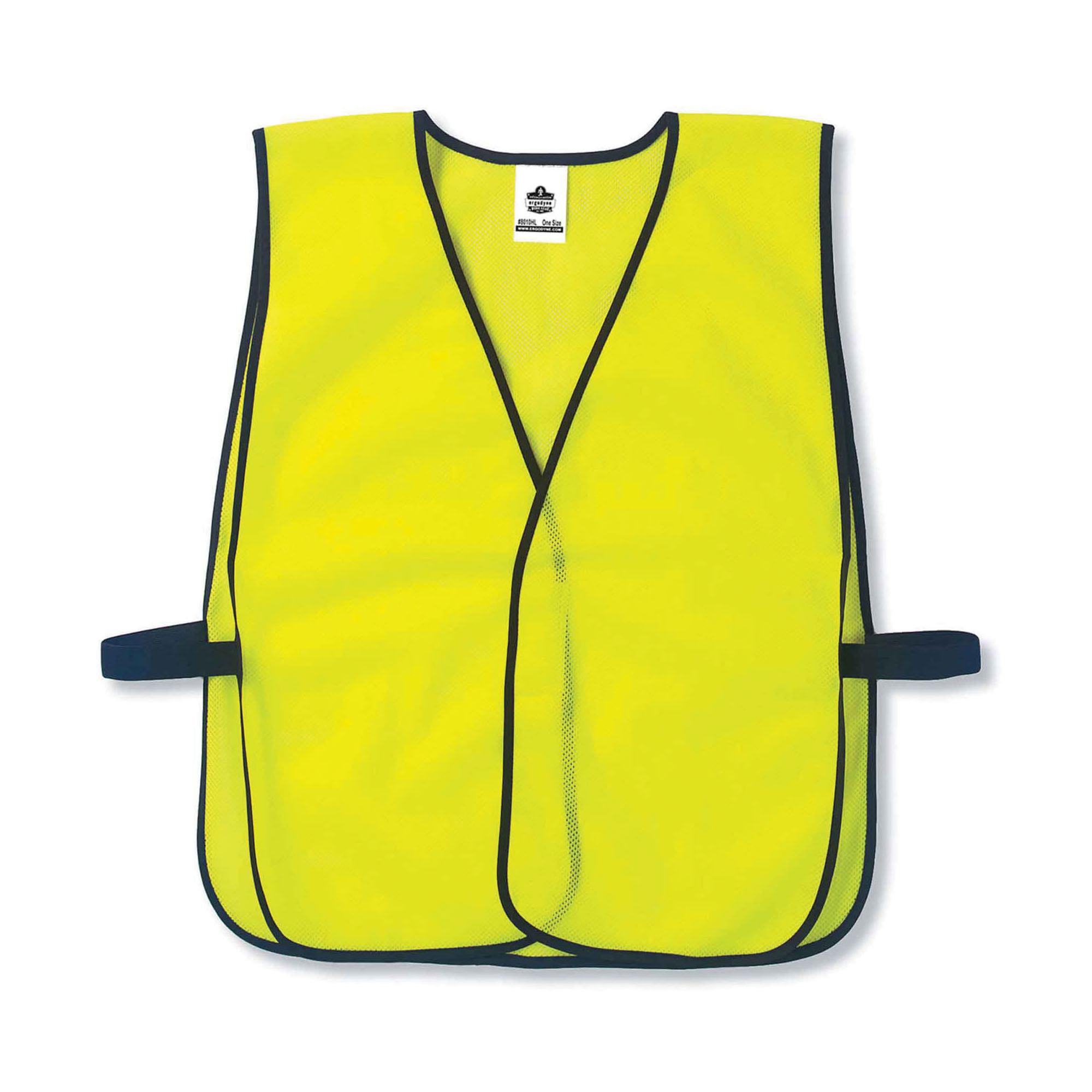 GloWear® 20010 8010HL Economy Non-Certified Safety Vest, Universal, Hi-Viz Orange, Polyester Mesh, Hook and Loop Closure