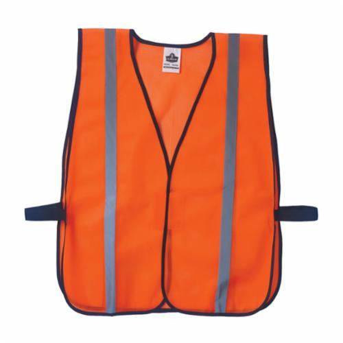 GloWear® 20020 8010HL Economy Non-Certified Safety Vest, Universal, Hi-Viz Lime, Polyester Mesh, Hook and Loop Closure