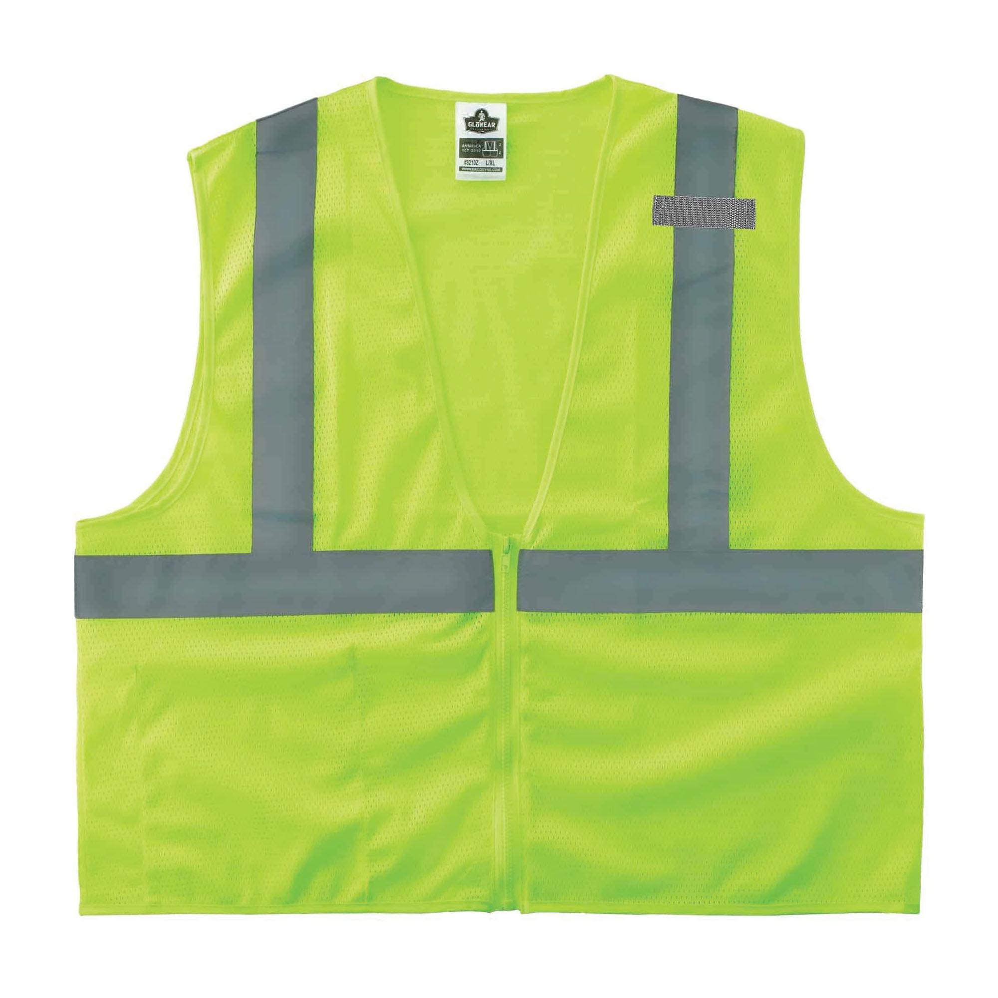 GloWear® 21043 8210Z Economy Standard Vest, S to M, Hi-Viz Orange, Polyester Mesh, Zipper Closure, 1 Pockets, ANSI Class: Class 2, ANSI/ISEA 107-2015 Type R
