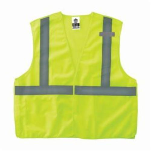 GloWear® 21065 8215BA Econo Style Break-Away Safety Vest, L to XL, Hi-Viz Orange, Polyester Mesh, Hook and Loop Closure, 1 Pockets, ANSI Class: Class 2, ANSI/ISEA 107-2015 Type R