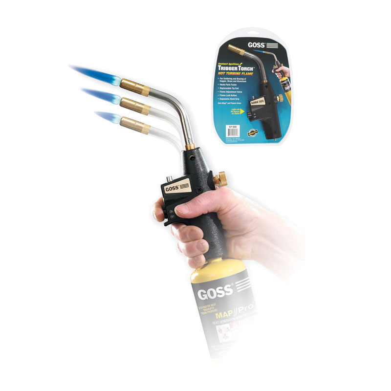 Goss® Trigger Torch™ GP-600 Self Lighting Trigger Hand Torch, For Use With Disposable Cylinder