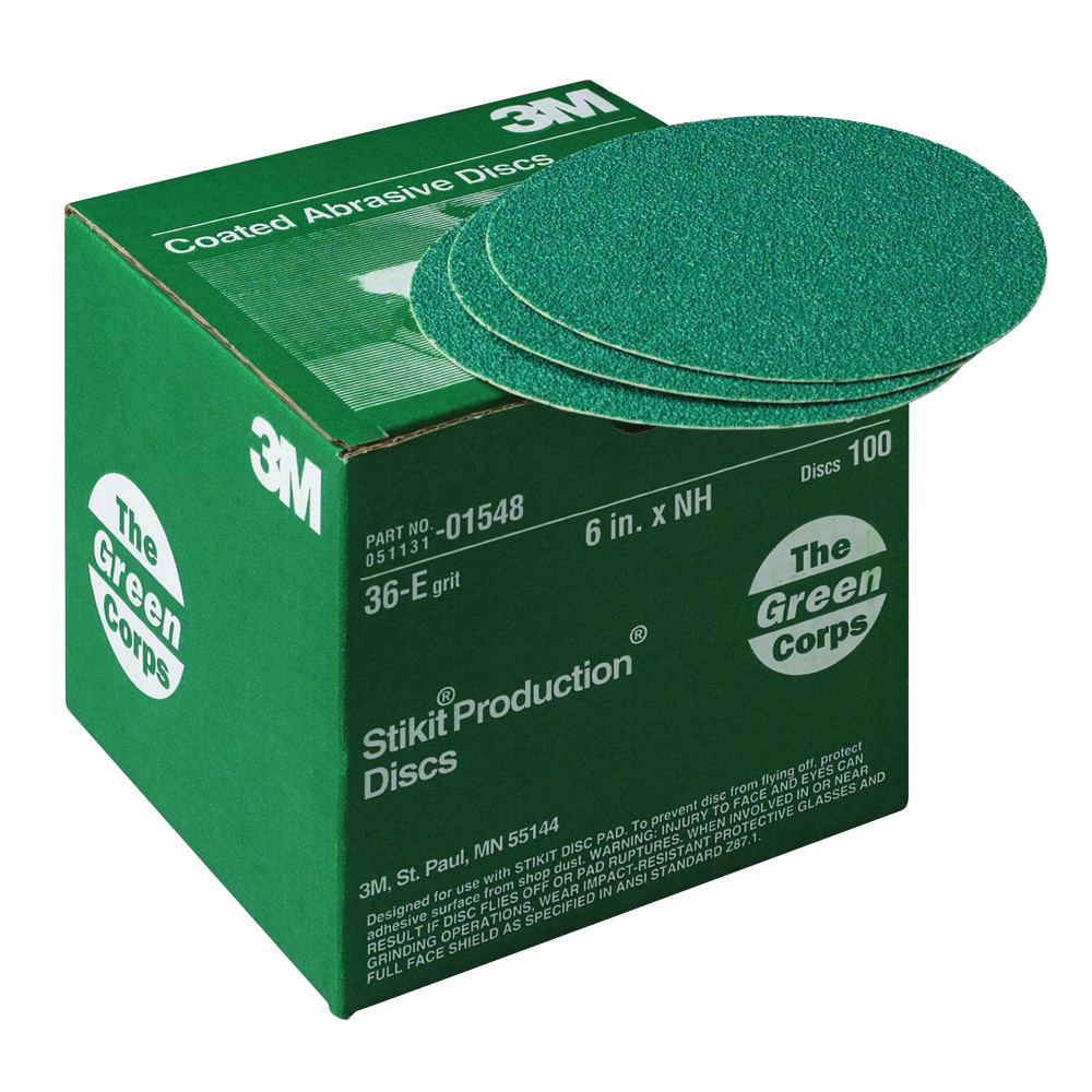 Green Corps™ 051131-01547 251U Open Coated PSA Indexable Grooving Blade, 6 in Dia Disc, 40 Grit, Coarse Grade, Aluminum Oxide Abrasive, Paper Backing