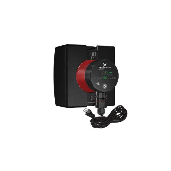 Grundfos 99163906 Alpha 2 In-Line Circulator Pump, 1-1/2 in Inlet x 1-1/2 in Outlet, 115 VAC, 1 ph
