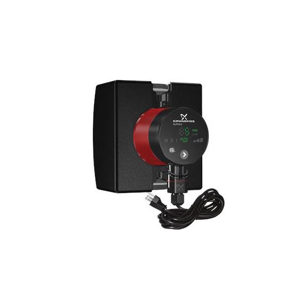 Grundfos 99163972 Alpha 2 In-Line Circulator Pump, 1 in Inlet x 1 in Outlet, 115 VAC, 1 ph