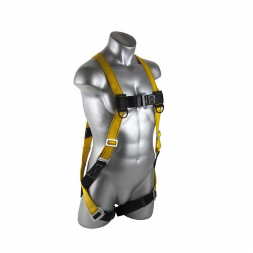 GUARDIAN FALL PROTECTION 02510 Flame Retardant, M Waist, 130 to 420 lb Load, Kevlar/Nomex Blend Strap, D-Ring Side/Pass-Thru Buckle Leg Strap Fastening, Di-Electric Steel Hardware