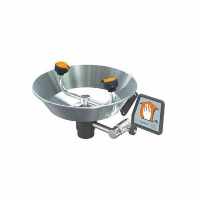 Guardian G1814 Eyewash With Stainless Steel Bowl, Wall Mounting, Push Handle Operation, Specifications Met: ANSI Z358.1-2014