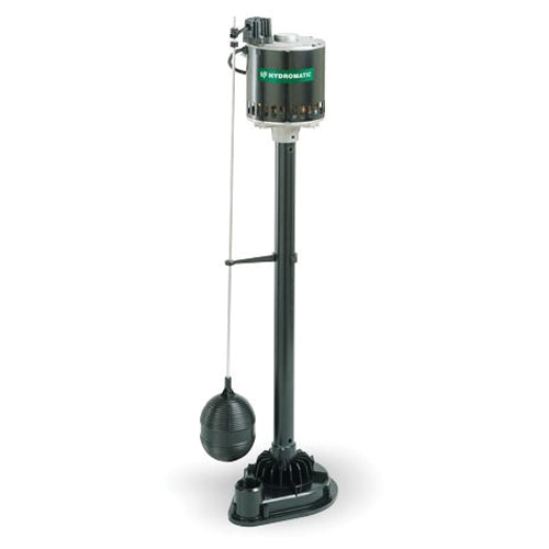 HYDROMATIC® P33A1 Pedestal Sump Pump, 55 gpm Flow Rate, 1-1/4 in NPT Outlet, 1 ph, 1/3 hp
