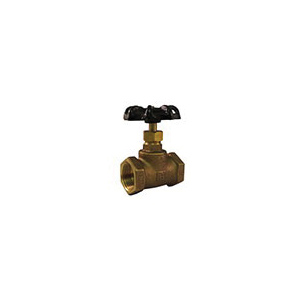 Hammond Valve 0445000012 445 Plumbing Stop Valve, 1/2 in, Thread, Brass