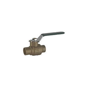 Hammond Valve 8911010034 2-Piece Ball Valve With Handle, 3/4 in Nominal, Solder End Style, Forged Brass Body, Full Port, PTFE Softgoods