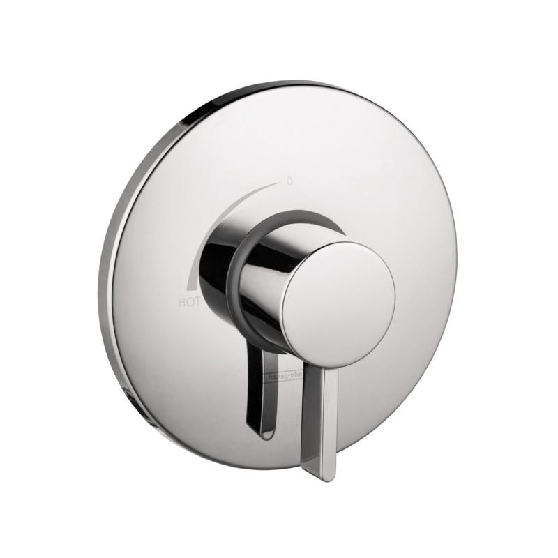 Hansgrohe 04233000 Pressure Balance Trim, 5.5 gpm Shower, Polished Chrome
