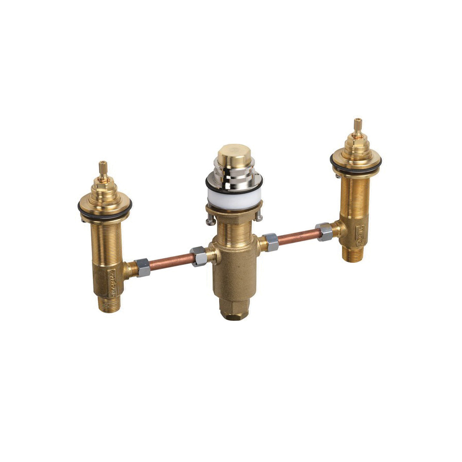 Hansgrohe 06607000 3-Hole Tub Filler, 1/2 in NPT Inlet x 1/2 in NPT Outlet, 44 psi, 10 gpm, Solid Brass Body, Domestic