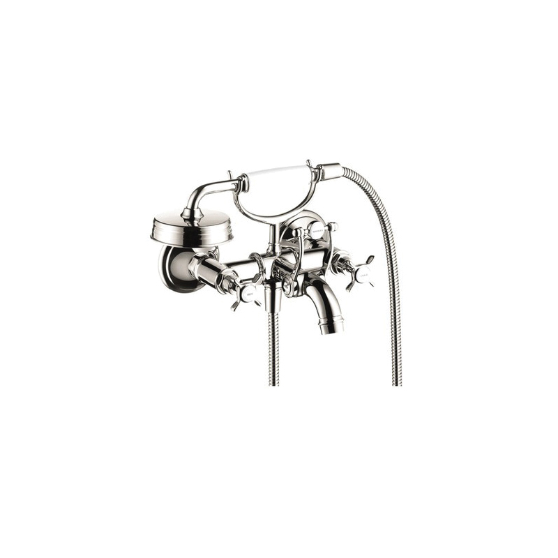 AXOR 16540831 Montreux Tub Filler, 5.3 gpm Flow Rate, 6-3/4 in Center, Polished Nickel, 2 Handles