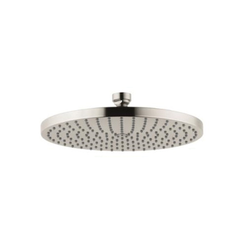 AXOR 28494821 1-Jet Shower Head, Downpour 240 AIR, 2.5 gpm, 9-7/16 in Dia x 2-3/8 in H Head