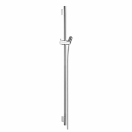 Hansgrohe 28631000 Unica S Wall Bar, 36 in L Bar, 39-5/8 in OAL, Brass, Polished Chrome, Domestic