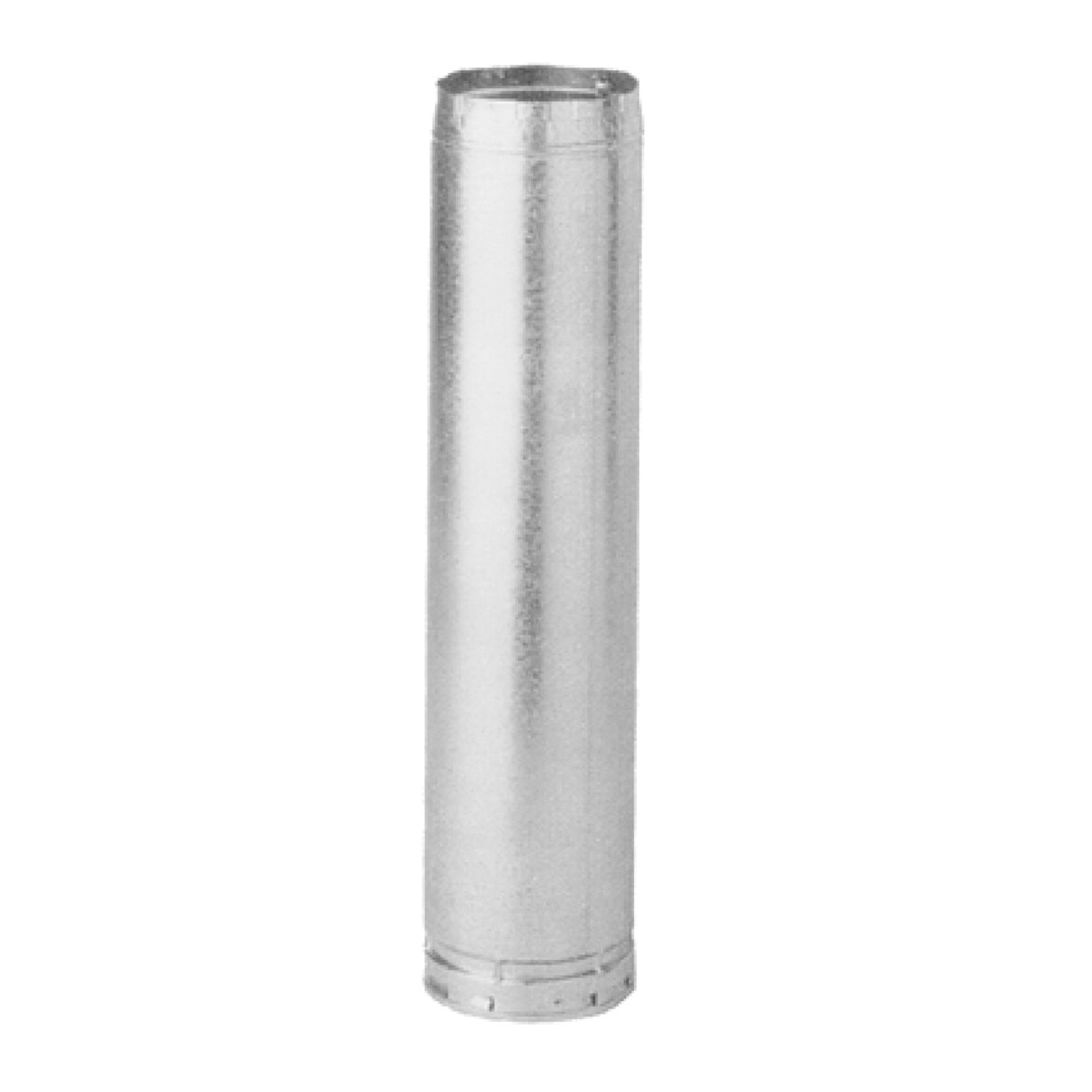AmeriVent® 3E12A Type B Gas Vent Pipe Section, Steel/Aluminum, 3 in ID x 3-1/2 in OD Dia x 12 in Adjustable L, Galvanized, Import