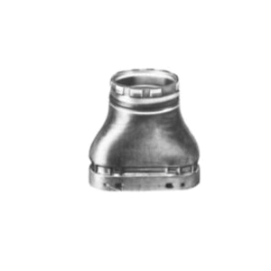 AmeriVent® 40E Oval to Round Adapter, 4 in Dia x 6-7/8 in L, Import