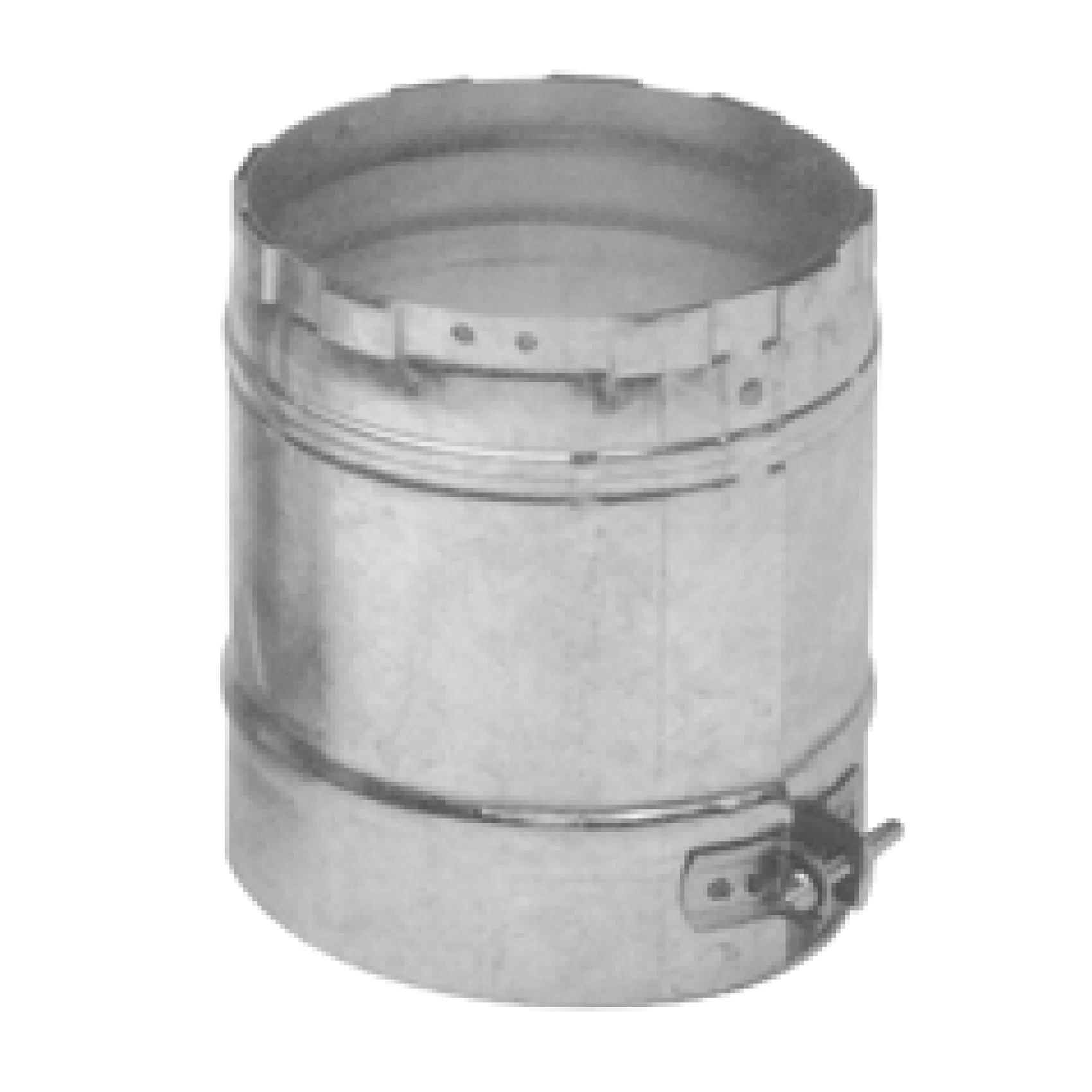 AmeriVent® 4EUA-F Universal Female Adapter, 4 in Dia x 4-1/2 in L, Steel, Galvanized