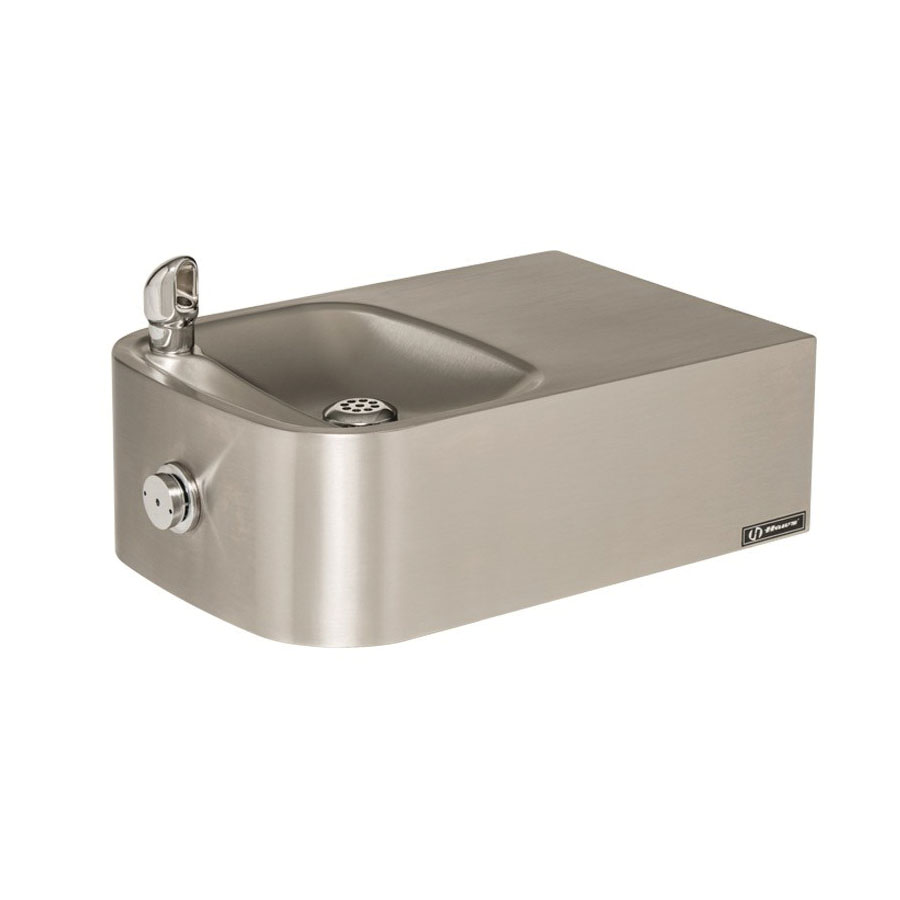 Haws® 1109 Barrier Free Drinking Fountain, 0.45 gpm Flow Rate, Push Button Operation, Non-Refrigerated Chilling