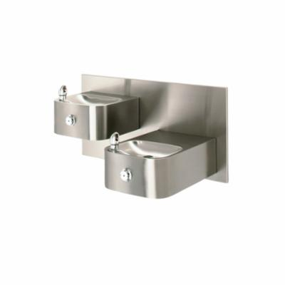 Haws® 1119.14 Barrier Free Drinking Fountain, 0.45 gpm Flow Rate, Push Button Operation, Non-Refrigerated Chilling
