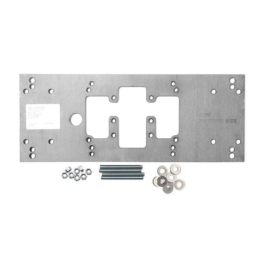 Haws® 6700 Universal Mounting Plate, For Use With Wall Mounted Fountains, Steel