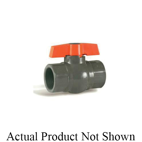 HAYWARD® QIC2™ QV1T075TE QV Series Compact Ball Valve With Handle, 3/4 in Nominal, Threaded End Style, PVC Body, Full Port, EPDM Softgoods