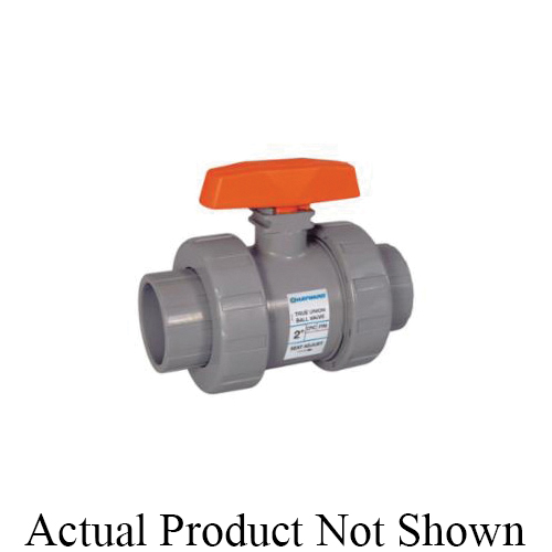 HAYWARD® TB1250SE TB Series True Union Ball Valve With Handle, 2-1/2 in Nominal, Socket End Style, PVC Body, Full Port, EPDM Softgoods