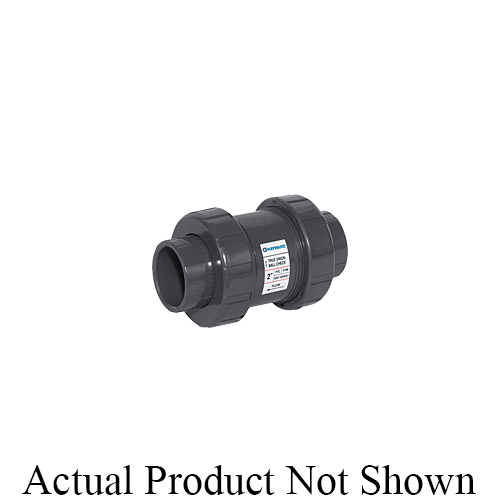 HAYWARD® TC10100ST TC Series True Union Ball Check Valve, 1 in Nominal, Socket/Threaded End Style, PVC Body, FKM Softgoods