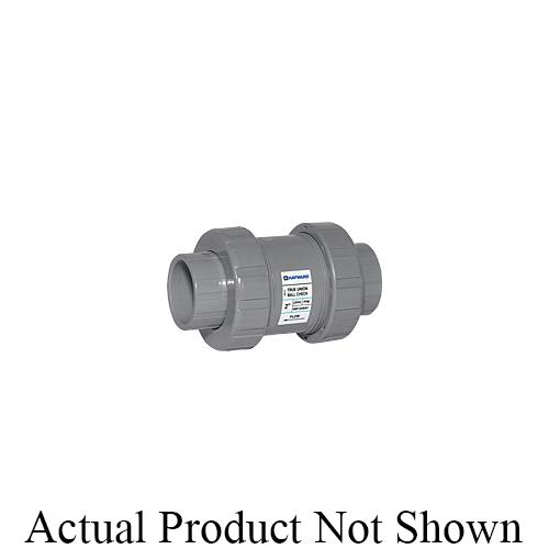 HAYWARD® TC20125ST TC Series True Union Ball Check Valve, 1-1/4 in Nominal, Socket/Threaded End Style, CPVC Body, FKM Softgoods